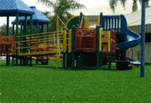 Pasto sintético para áreas de juego